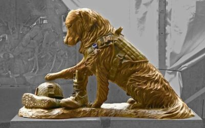 Sculpture Honors Unique Bond between Soldiers and Military Dogs